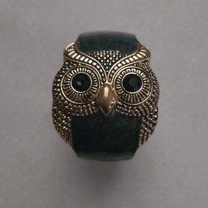 Gray & Gold Owl Bracelet